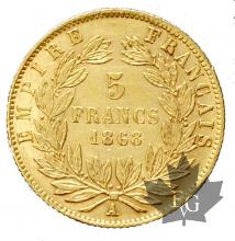 France - 5 francs or gold-tête laurée-mixed years