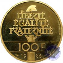 France-1986-100 francs Proof sans coffret