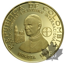 Colombie-1968-1500 PESOS Gold-PROOF
