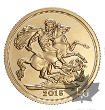 Royaume Uni - souverain or - sovereign gold - sterlina - 2018