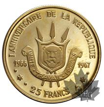Burundi-1967-25 Francs-PROOF
