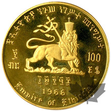 ETHIOPIE-1966-100 Dollars-PROOF