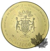 Gabon - 5000 Francs or gold Pompidou