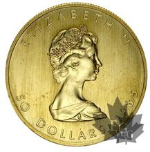 Canada- 1 oz. Maple Leaf 50 Dollars or gold