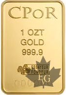 France - lingot 1 once or - 1 oz gold ingot-CPor