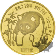 CHINE-100 YUAN-1 OZ gold- Panda PROOF  different years