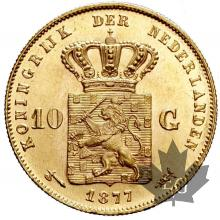 Pays Bas - 10 Gulden Guillaume Holland gold or