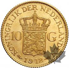 Pays Bas - 10 Gulden Guillemine Holland gold or