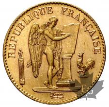 France - 20 francs or gold- génie - dates mixtes