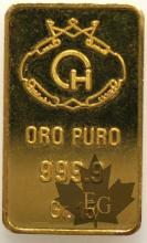 Italie-Lingot 15 g-or-gold