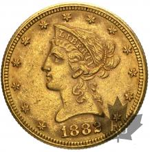USA- 10 dollars or gold liberty head - dates mixtes