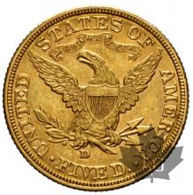 USA- 5 dollars or gold liberty head - dates mixtes