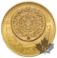 Mexique - 20 Pesos gold or - dates mixtes