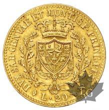 Italie - 20 lire oro gold marengo Carlo Felice