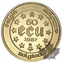 Belgique - 50 Ecu or gold - dates mixtes