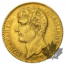 France - 40 francs or gold  - Premier Consul-dates mixtes