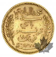 Tunisie - 20 Francs or gold - 1891-1904