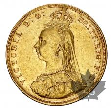 Royaume Uni  - souverain-sovereign-sterlina or gold - Victoria Crown & Veil