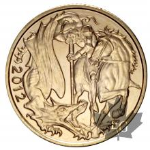 Royaume Uni  - souverain or - sovereign gold - sterlina - 2012