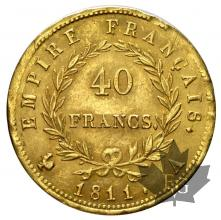 France - 40 francs or gold  Napoleon Empereur-tête-lauree