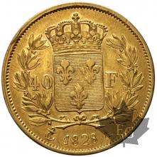 France - 40 francs or gold -Charles X-TTB-dates mixtes