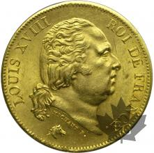 France - 40 francs or gold  Louis XVIII