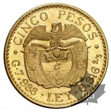 Colombie-5 Pesos-or-gold-SUP-FDC