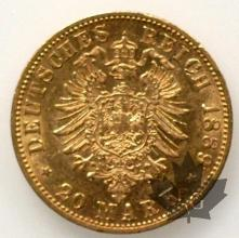 Allemagne- 20 Mark or gold- Whilelm II