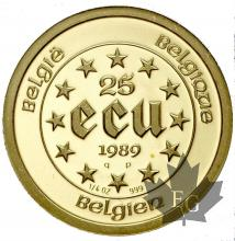Belgique-25 Ecu- or- gold