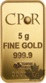 France - lingot or - lingotto oro-gold ingot -CPOR 5 g