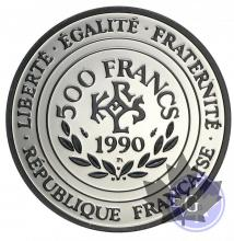 FRANCE-1990-500 FRANCS-PLATINE-PROOF-KM#990a-2000 ex
