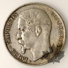 France - 5 francs 1852 Louis Napoleon