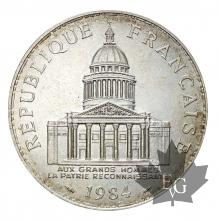 France-1982-100 Francs argent-Pantheon