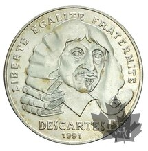France-1991 100 Francs argent-Descartes