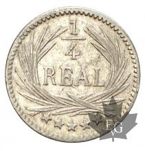 Guatemala-1/4 Real-argent-silver