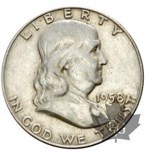 USA-Half dollar-Franklin-argent
