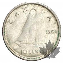Canada-1937-1967-10 Cents-silver