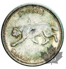 Canada-1937-1967-25 Cents-silver