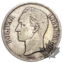 Venezuela-5 Bolivares-argent-silver