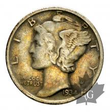 USA-one dime Mercury-argent
