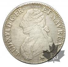 France- Louis XVI- ECU en argent