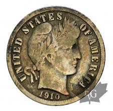 USA-one dime Barber-silver