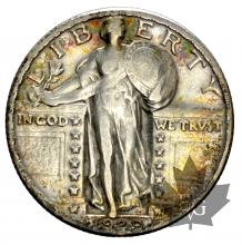 USA-Quarter dollar-Standing Liberty-silver