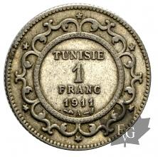 Tunisie-1 Franc-argent