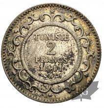 Tunisie-2 Francs-argent