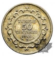 Tunisie-demi franc-argent
